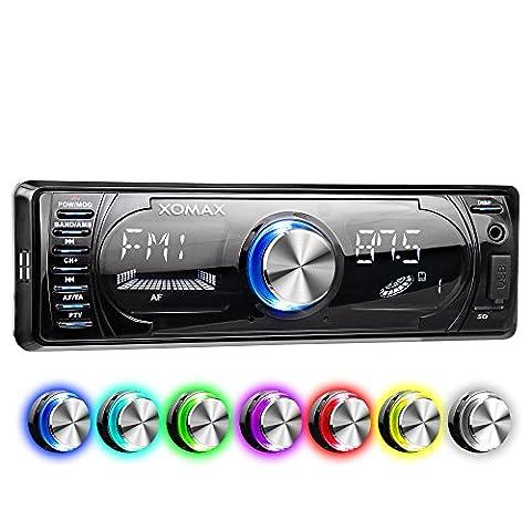 XOMAX XM-RSU260BT Autoradio mit Bluetooth Freisprecheinrichtung + RDS FM AM