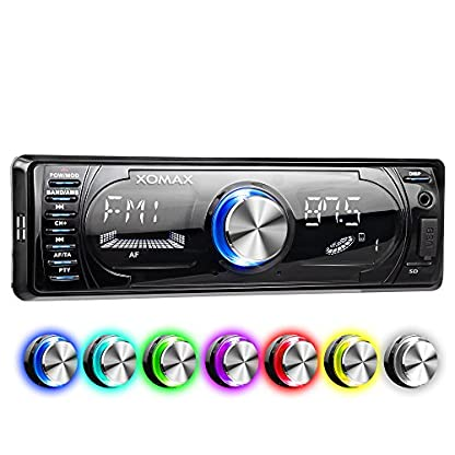 XOMAX-XM-RSU260BT-Autoradio-mit-Bluetooth-Freisprecheinrichtung-I-RDS-FM-AM-Radio-Tuner-I-7-Beleuchtungsfarben-I-USB-SD-AUX-I-1-DIN