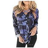 OUICE T-Shirt à Longue Manches Sexy Pas Cher Casual Élégant Sangle Croisée Couleur Unie Slim Mode Classique Tops S-2XL