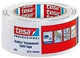 TESA 04665-00000-00 - Cinta de tejido para Exteriores Transparente serie 4665-25m x 48mm Transparente