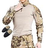 H Welt EU Taktisches Jagd Militär Langarm Shirt mit Ellenbogen Pads (Highlander, XXL)