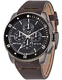 Sector Herren - Armbanduhr 350 Chronograph Quarz Leder R3271903002
