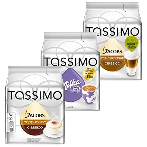 Tassimo Cream Collection, 3 Sorten, Kaffee, Kakao, Milchkaffee, Kapseln, 24 T-Discs