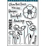 Dare 2B Artzy Totally Tracy - Poppy Power - Clear Cling Rubber Stamps