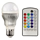 Xavax LED-Lampe, E27, 5W, Glühlampenform, Multicolor mit Fernbedienung