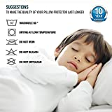 Dreamzie 2x Waterproof Pillow Protectors (50 x 75cm) Breathable, Hypoallergenic, Anti-Dust Mite, Anti-Bacterial Pillow Protect - New Generation BiOme Treatment with OEKO-TEX 100 and 10 Year Warranty