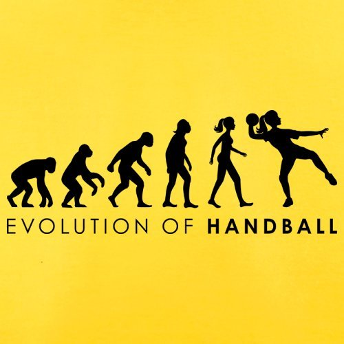 Evolution of Woman - Handball - Herren T-Shirt - 13 Farben Gelb