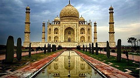 Obella Peinture par numéros Kits issu de la gamme Inde Taj Mahal 50x 40cm issu de la gamme Peinture par numéros numériques, peinture à l'huile, sans cadre