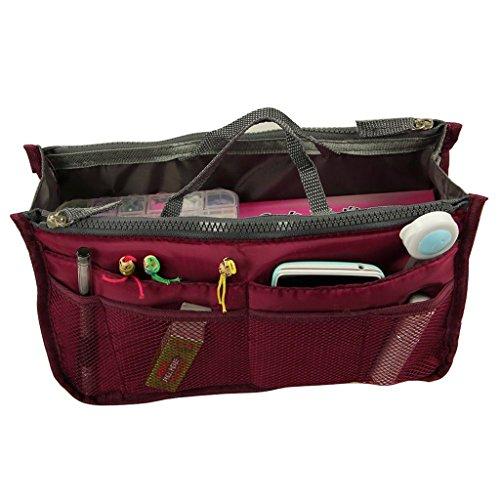 lmeno® Multifunktions-Tasche Organizer Einlasskontrolle Paket Reißverschluss Handtasche Organizer Reise Tasche Kosmetik Organizer Innen Aufbewahrung Make-up Paket 28x 17x 10cm - Handtaschen Vuitton