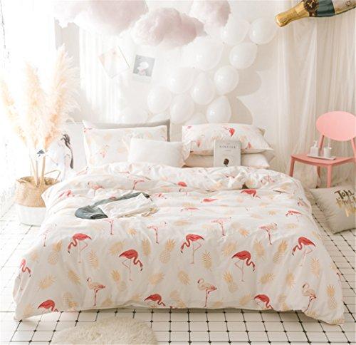 Bettwäsche Bettlaken Bettbezug Bettdecke Set 4 Stücke 100% Reiner Baumwollgewebe Zeitgenössische Karikatur Weiche Mikrofaser Hypoallergen, Voller Königin Größe,E,Queen (Königin Mikrofaser)