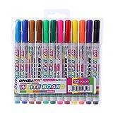 ECMQS 12 Stücke 12 Farben Weiß Plattenhersteller Stift Whiteboard Marker Flüssige Kreide Löschbaren Glas Keramik Maker Stift Büro Schule versorgung