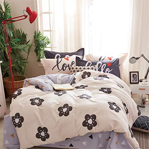 KANGJIABAOBAO Bettwäsche Vier Sätze von Bett Bettwäsche Set von Vier Baumwolle Hochwertige, gebürstete Bettwäsche mit hoher Dichte Kissenbezug Geeignet (Größe : 1.5M)