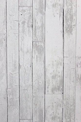 Vlies Tapete Antik Holz rustikal hell grau verwittert