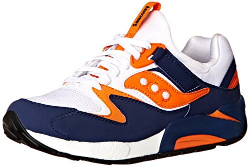 Saucony Originals  Saucony Grid 9000, Sneakers basses hommes Blanc (white / Blue / Org)