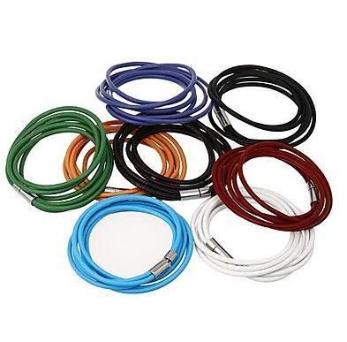 GYJUN double anneau personnalisé bracelets en cuir , white