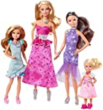 Barbie and Her Sisters in a Pony Tale Collectorst Set - 4 Doll Toy Playset