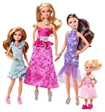 Mattel Barbie Y7562 - Barbie und ihre Schwestern im Pferdeglück Schwestern-Geschenkset, 4 Puppen