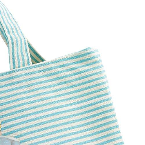 FakeFace süße niedliche Puppe Tunnelzug Mittagessentasche Lunchbox Picknick Tragetasche Blau