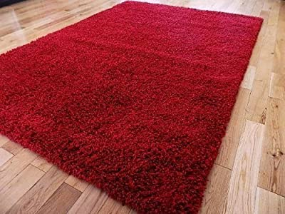 Extra Large Red Medium New Modern Soft Thick Shaggy Rugs Non Shed Runner Mats 120 X 170 Cm (4 Ft X 5 Ft 7)free Uk Mainland Delivery produced by AHOC - quick delivery from UK.