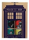 Doctor Who BBC Worldwide - Set di 4 tazze da espresso della serie, confezione regalo, vari colori