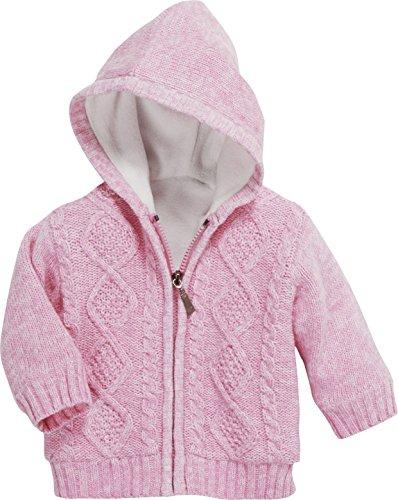 Schnizler Baby Strick-Jacke – gefütterter Hoodie für Kinder mit Kapuze und Knopf-Verschluss