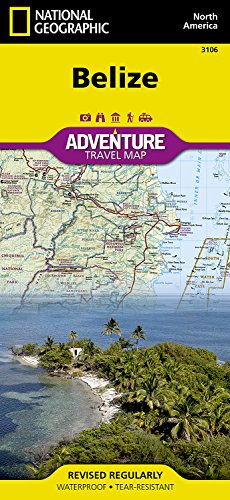 Belize adv. GPS ng (r) wp (Adventure Map (Numbered))