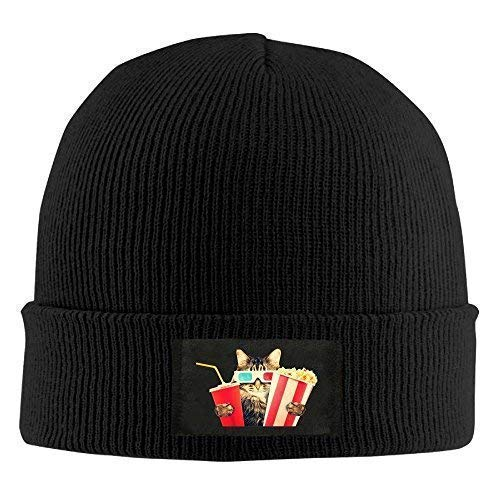 Zhgrong Caps Slouchy Beanie Beanies Hat Persian Cat Popcorn Cola Slouchy Knit Cap Woman Black Sports Cap