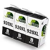 JARBO Ersetzt HP 920XL 920 Druckerpatronen 3 Schwarz Hohe Kapazität für HP Officejet 6500 6500A 6000 7000 7500 7500A