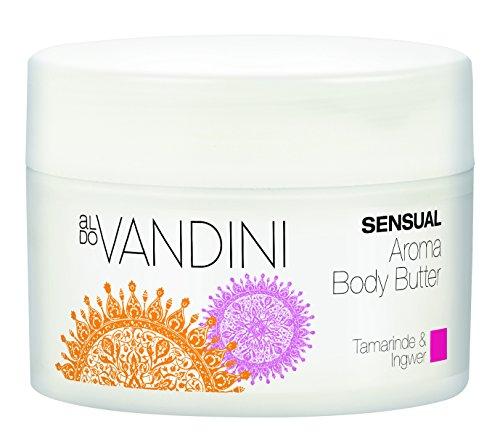 aldoVANDINI SENSUAL Aroma Body Butter Tamarinde & Ingwer - vegan & parabenfrei, 1er Pack (1 x 200ml)