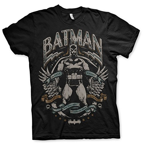 odukt Dark Knight Crusader T-Shirt (Schwarz), Large (Dark Knight Offizielle Kostüme)
