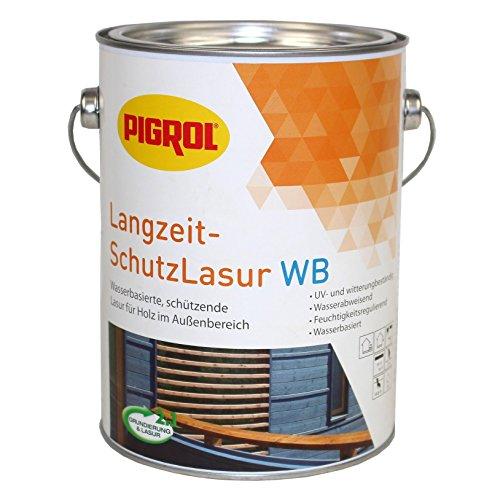 Pigrol Langzeit-Schutzlasur 2,5L granit Holzlasur für alle Hölzer im Außenbereich