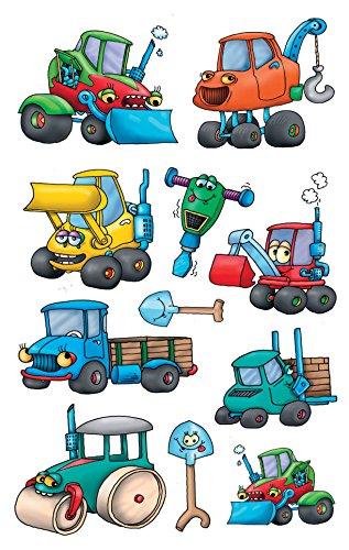 Avery Zweckform 53705 Kinder Sticker Baumaschinen 33 Aufkleber