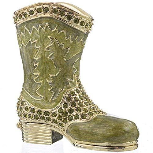 Keren Kopal sh1397grün Musketier Schuh Schmuckkästchen Verziert mit Swarovski-Kristallen