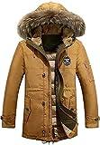 ShallGood Blousons Fermeture Jacket Homme Nouvelles Mode Biker Moto Zipper Veste Élégant Hiver Style Militaire Masculine Manteau D'Automne A-Marron EU L