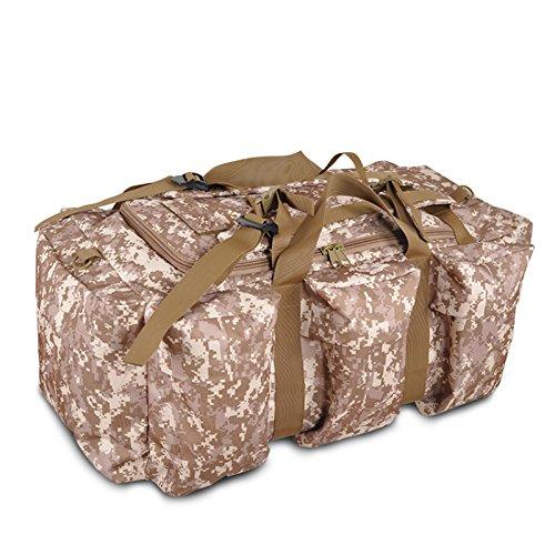Herren Schulterriemen Tasche große Kapazität im Freien Wandern Rucksack im Freien Wüstencamouflage