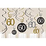 NEU Girlanden-Set Happy Bday Sparkling 60, 12 Stk.
