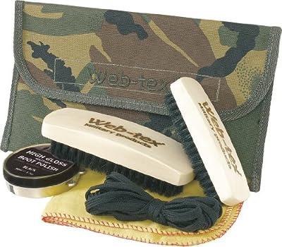 Web-tex Boot Care Polish and Polishing Kit