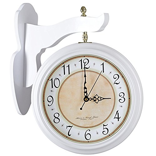 Hui et le silence dans le salon de double Faz affichage mural horloge mural horloge de bois Restaurant Montre de quartz et autre blanche -31 cm, 1739