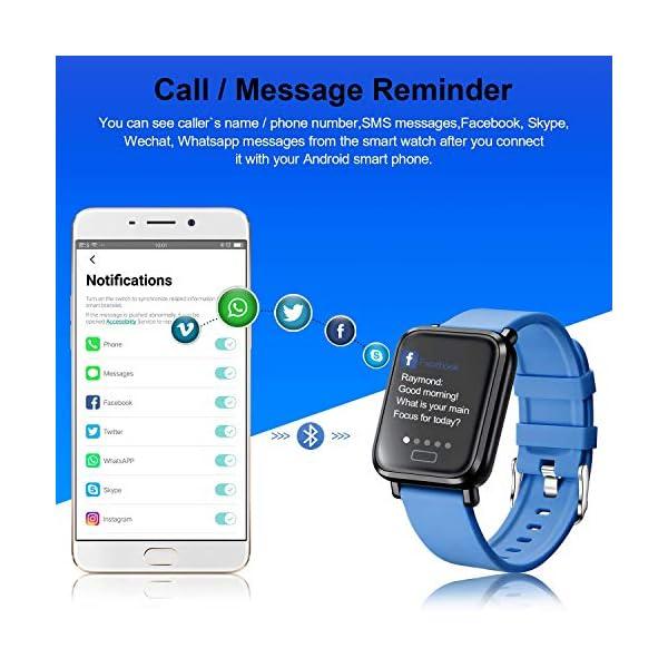 Tipmant Reloj Inteligente Mujer Hombre Smartwatch Pulsera de Actividad Inteligente Impermeable IP68 Pulsómetros… 2