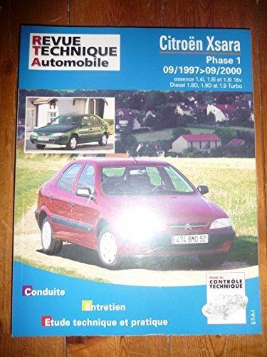 Revue technique0110.1 – REVUE TECHNIQUE AUTOMOBILE CITROEN XSARA Phase I de 09/1997 à 09/2000