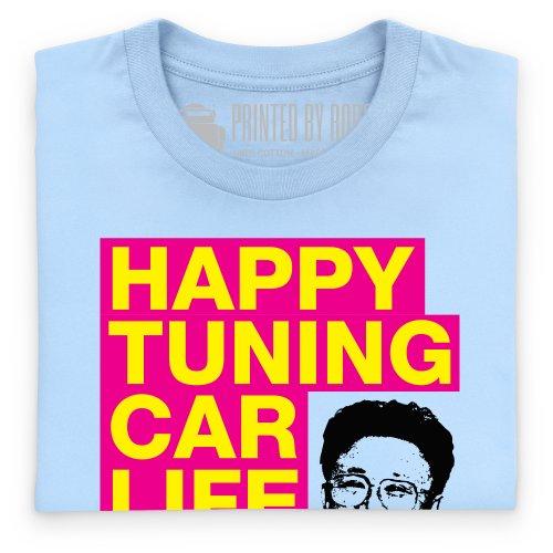Happy Tuning T-Shirt, Herren Himmelblau
