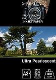 marrutt 300gsm Ultra Perlglanz hi-white-A3+, 50Blatt