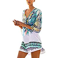 HOMEBABY Women Bohemia Beach Cover Up - Girls Beach Dress Lace Long Suit Bikini Swimwear Beach Swimsuit Smock Holiday Cover UPS Summer Cardigan