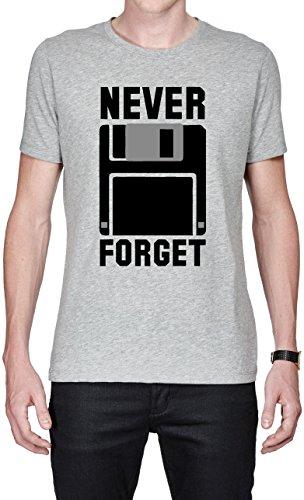 Silicon Valley Tv Never Forget Floppy Funny maglietta da uomo Small