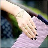 ITS-Rose Gold Toned Slave Fish Scale Ring Bracelet