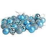 36 Weihnachtskugeln Christbaumkugeln Blau Sortiert - Ø 3cm