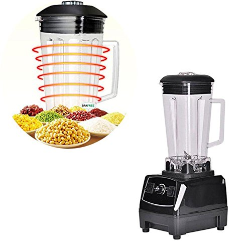PA Free 3HP 2200W Heavy Duty Commercial Grade Multifunctional Smoothie Maker-Juicer & Grinder High Power Food Processor Ice Smoothie Bar Fruit Blender (black, US standard)