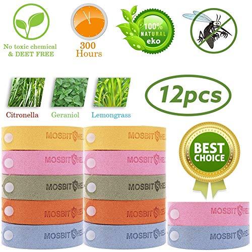 Sunshine smile moskito Armband Kinder,mückenschutz Armband,Mückenarmband,Repellent Bracelet,Insektenschutz-Armband,Anti mücken Armband,Repellent Wristband (12-Pack)