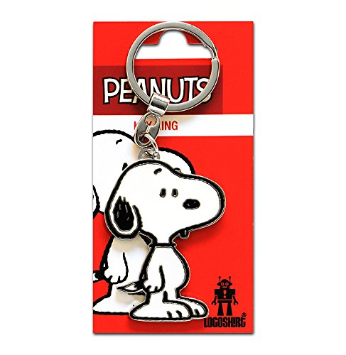 Comics - Peanuts - Hund - Beagle - Snoopy Schlüsselanhänger - Key-Ring - farbig - Lizenziertes Originaldesign - Logoshirt
