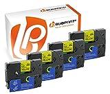 Bubprint 4 Schriftbänder kompatibel für Brother TZE-621 TZE 621 für P-Touch 1280 2430PC 2730VP 3600 9500PC 9700PC D400VP D600VP H100LB H105 P700 P750W